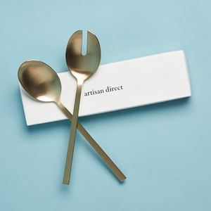 Artisan direct Gold serving spoons